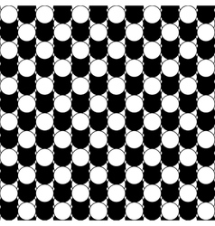 Black and white abstract pattern with circles vector image vector image