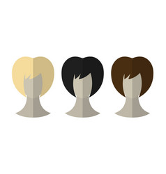 fashionable hairstyle wig for beauty salon flat vector image vector image