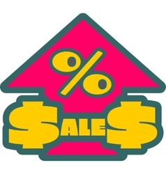 Sales grow up sticker vector image vector image