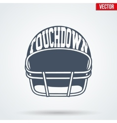 Sports symbol helmet of American football with vector image vector image