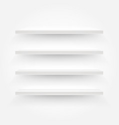white empty shelves template for a content vector image vector image
