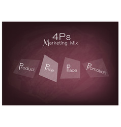 4ps marketing mix diagram with price product pro vector image