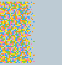 abstract pixel background colored squares on grey vector image