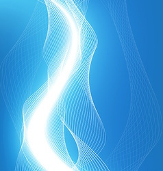 Abstract waves - data stream concept vector