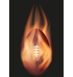 American Football ball with flame vector image