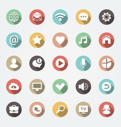 application web icons set in flat design vector image
