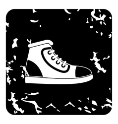 Athletic shoe icon grunge style vector