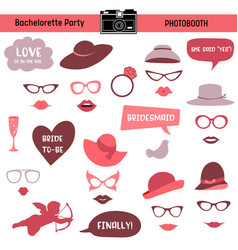 bachelorette event hen party bridal shower vector image