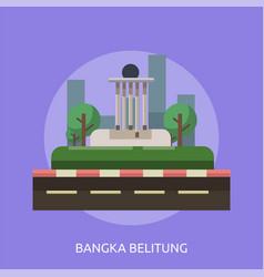 Bandung city conceptual design vector