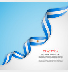 Banner in white and blue colors and waving vector