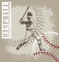 batter base ball vector image