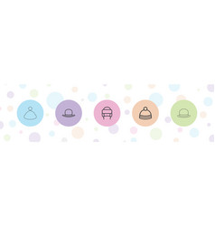 Beanie icons vector