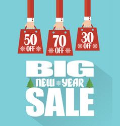 Big new year sale modern flat design vector