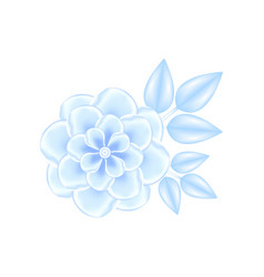 blue fantasy flower in realistic 3d vector image