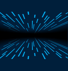blue neon laser trace lines abstract background vector image