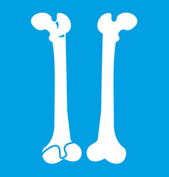 Bone icon white vector
