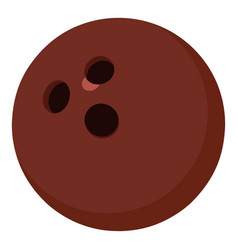 Bowling ball icon cartoon style vector