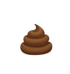 brown poop pile dog poo in vector image