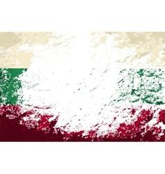 Bulgarian flag Grunge background vector