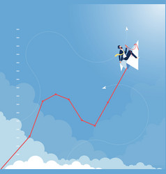 Business finance growth concept vector
