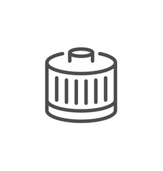 Car filter line icon vector