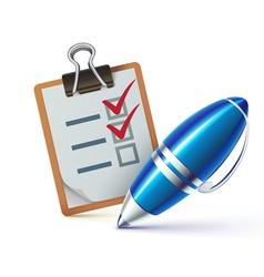 checklist on a clipboard vector image