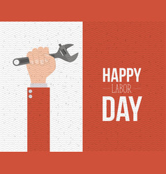 colorful banner with zigzag lines of happy labor vector image