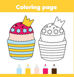 Coloring page educational children game yummy vector
