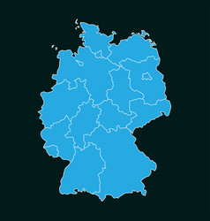 concept map of germany on dark background vector image
