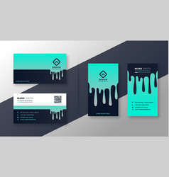 Creative business card vertical and horizontal set vector