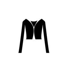 Crop jacket icon vector