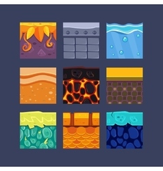 Different Materials and Textures for the Game vector