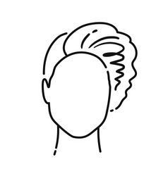 faceless user icon avatar character vector image