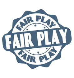 fair play label or stamp vector image