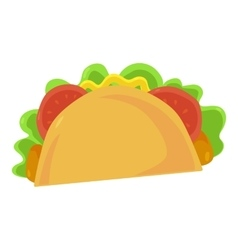 Fast food taco icon vector image