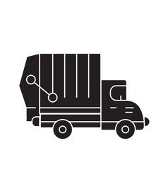garbage truck black concept icon garbage vector image