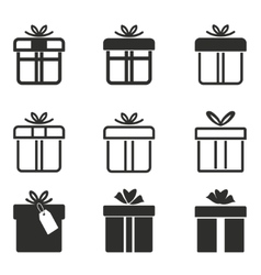 Gift Box icon set vector