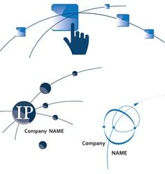 global communication logo icon internet wireless vector image