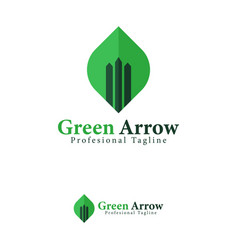 green arrow up design template logo iconic symbols vector image
