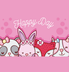 Happy day card vector