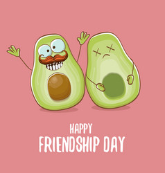 Happy friendship day cartoon comic greeting card vector