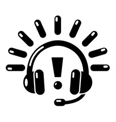 headphones icon simple black style vector image