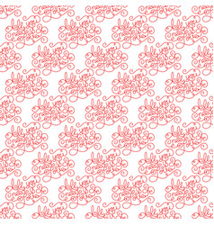 Holiday semless pattern with hand lettering all vector