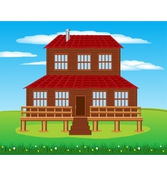 House on nature vector image