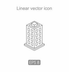 icon of an apartment building vector image