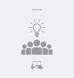 ideas by teamwork - web icon vector image