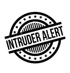 Intruder alert rubber stamp vector