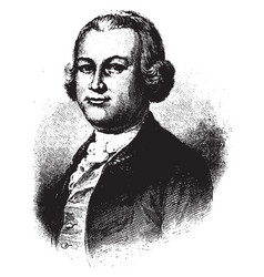 James otis jr vintage vector