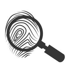 Lupe scene finger icon vector