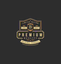 luxury monogram logo template object vector image
